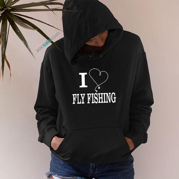 Love Fly Fishing Hoodie
