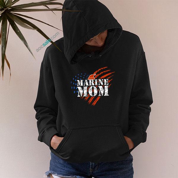 Marine Mom Army Hoodie