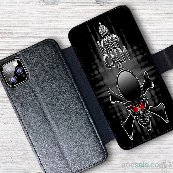 Die Skull Wallet iPhone Case