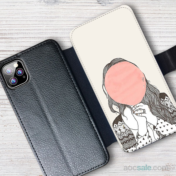 Shy Girl Wallet iPhone Case