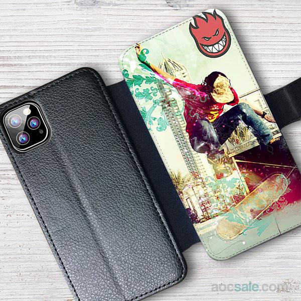 Spitfire Skateboard Wallet iPhone Case