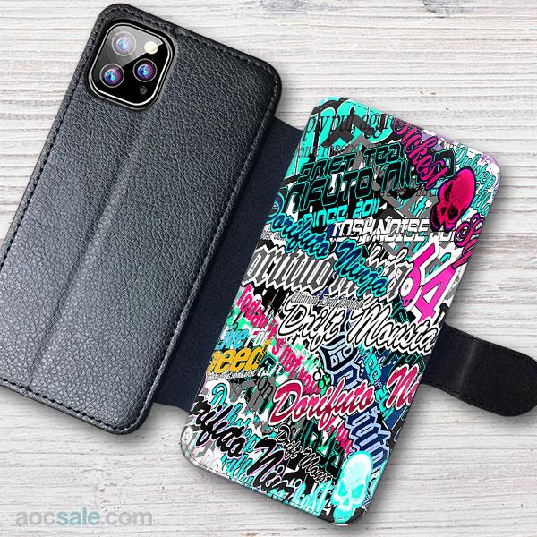 sticker boom Wallet iPhone Case