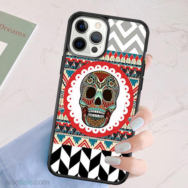 Skull Aztec iPhone Case